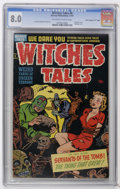 "Golden Age (1938-1955):Horror, Witches Tales #6 Davis Crippen (""D"" Copy) pedigree (Harvey, 1951)CGC VF 8.0 Off-white to white pages. Bondage cover. Lee El..."