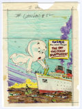 "Original Comic Art:Miscellaneous, Warren Kremer - Casper Ghostland #82 Cover Preliminary Original Art(Harvey, 1982). Casper will never forget ""The Day the Oc..."