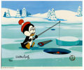 "Animation Art:Limited Edition Cel, ""Chilly's Fishing Hole"" Limited Edition Hand Painted Cel #4/200Original Art (Walter Lantz Productions, 1991). Chilly Willy ...(Total: 2 Items)"