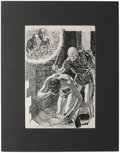 Original Comic Art:Sketches, Charles Schneeman - Astounding Magazine, page 129 Illustration Original Art (Street and Smith, 1939). When a friend showed C...