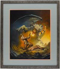 "Boris Vallejo - ""Serbian Myth"" Painting Original Art (1989). Modern fantasy art master Boris Vallejo presents..."