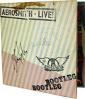"Music Memorabilia:Autographs and Signed Items, Aerosmith Signed ""Live Bootleg"" Album. Released in 1978 to showcasethe band's hugely popular live concerts, and using mater..."
