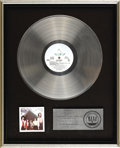 "Music Memorabilia:Awards, Air Supply ""Lost In Love"" Platinum Album Award. Presented to JuneColbert to commemorate the sale of one million copies of t..."