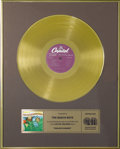 "Music Memorabilia:Awards, Beach Boys ""Endless Summer"" CRIA Gold Album Award. Presented to theBeach Boys by the Canadian Recording Industry Associatio..."