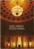 Music Memorabilia:Autographs and Signed Items, Leonard Bernstein and Franco Zeffirelli Signed Opera Program. Aprogram book for the New Jersey State Opera 1980-81 season, ...
