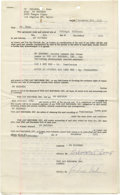 Music Memorabilia:Autographs and Signed Items, Sonny Bono Signed Contract. Three-page leasing agreement between GoRecords and Vee Jay Records, dated December 5, 1961, sig...
