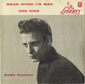 "Music Memorabilia:Recordings, Eddie Cochran ""Mean When I'm Mad"" Rare 45 Picture Sleeve Liberty55070 (1957). You're looking at the only picture sleeve tha..."