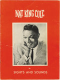Music Memorabilia:Autographs and Signed Items, Nat King Cole Signed Tour Book. An original copy of of the tourbook for Cole's Sights and Sounds Tour, signed by him on pag...