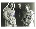 "Music Memorabilia:Autographs and Signed Items, Cream Photo Signed by the Band. A b&w 8"" x 10"" glossy signed byEric Clapton, Ginger Baker, and Jack Bruce, in Excellent con..."