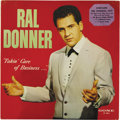 """Music Memorabilia:Recordings, Ral Donner """"Takin' Care Of Business"""" LP Gone 5012 Mono (1961). It'sa mystery why the Elvis sound-alike released only one al..."""