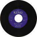 """Music Memorabilia:Recordings, Charlie Feathers """"Too Much Alike"""" 45 King 5043 (1956). BrilliantRockabilly artist well-known to that genre's aficionados. H..."""