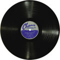 """Music Memorabilia:Recordings, Flamingos """"Golden Teardrops"""" 78 Chance 1145 (1953). The legendary doo-wop group's third release came three years before they..."""