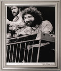 "Music Memorabilia:Photos, Jerry Garcia Photo Signed by Artist. A very nice 11"" x 14"" b&wphoto of the late Grateful Dead frontman, signed by legendar..."