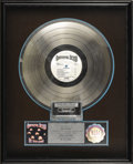 "Music Memorabilia:Awards, Grateful Dead ""In the Dark"" Platinum Album Award. Presented to June Colbert to commemorate the sale of one million copies of..."