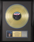 "Music Memorabilia:Awards, Grateful Dead ""Built to Last"" Gold Sales Award. Presented to StevenShmerler to commemorate the RIAA certified sale of more ..."