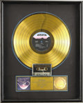 Music Memorabilia:Awards, GTR Gold Album Award. Comprised of guitarists Steve Howe from Yesand Steve Hackett from Genesis, vocalist Max Bacon, bassis...