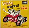 """Music Memorabilia:Recordings, Bill Haley and his Comets """"Shake Rattle and Roll"""" 10"""" LP Decca 5560 (1955). One of our favorite Haley covers and does this 8..."""