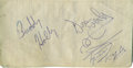 Music Memorabilia:Autographs and Signed Items, Buddy Holly and the Everly Brothers Signed Receipt. A high schoolclass ring receipt, dated October 13, 1957, bearing the si...