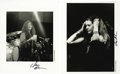Music Memorabilia:Photos, Janis Joplin Signed Unreleased Photos. Two great photos of one ofthe most powerful voices of the 1960s. These photos were t...