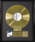 "Music Memorabilia:Awards, Madonna ""True Blue"" RIAA Gold Album Award. Presented to Madonna bythe RIAA to commemorate the sale of 500,000 copies of her..."