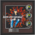 "Music Memorabilia:Awards, Tim McGraw ""Place in the Sun"" Triple Platinum Album Award. Anelaborate platinum album award presented to Keith Greer by the..."