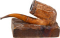 Military & Patriotic:Civil War, Magnificent Carved Civil War Pipe, Isaac H. Boyd 19th Mass. Inf. Died of Wounds Received at Farmville, Virginia 4/10/65....