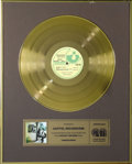 "Music Memorabilia:Awards, Pink Floyd ""Ummagumma"" CRIA Gold Album Award. Presented to CapitolRecords/EMI by the Canadian Recording Industry Associatio..."