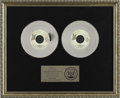 "Music Memorabilia:Awards, Queen ""We Are the Champions"" Double-Platinum Single Award.Presented to Pete Brown by the RIAA to commemorate the sale oftw..."