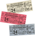 Music Memorabilia:Tickets, Otis Redding Unused Concert Ticket, Group of Three (1966). The PennTheater Auditorium in Pittsburgh was the setting for thi... (Total:3 )