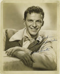 "Music Memorabilia:Autographs and Signed Items, Frank Sinatra Signed Photo. A very nice vintage b&w 8"" x 10""photo of Sinatra as a young performer, inscribed ""To Jack -- Wi..."
