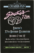 "Music Memorabilia:Memorabilia, Frank Sinatra 77th Birthday Desert Inn Poster. An 11"" x 17"" heavycardstock poster advertising Sinatra's 77th Birthday Celeb..."