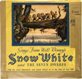 "Music Memorabilia:Recordings, ""Snow White and the Seven Dwarfs"" Rare 78 Set of 3 RCA (1937). This amazing set of three 78s collects music from the Walt Di..."