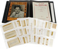 Music Memorabilia:Autographs and Signed Items, Tin Pan Alley Legends Autograph Collection. This large, black spiral-bound notebook contains 54 vintage books of sheet, each...