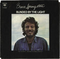 """Music Memorabilia:Recordings, Bruce Springsteen """"Blinded By The Light"""" 45 Picture Sleeve Columbia45805 (1973). By far the Boss' rarest picture sleeve, an..."""