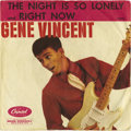 "Music Memorabilia:Recordings, Gene Vincent ""The Night Is So Lonely"" Rare 45 Picture SleeveCapitol 4237 (1960). If we haven't wowed you yet with one of ou..."