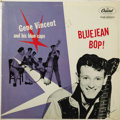 "Music Memorabilia:Recordings, Gene Vincent ""Bluejean Bop"" LP Capitol 764 (UK, 1956). Vincent andhis Blue Caps didn't have quite the impact as Elvis, but ..."