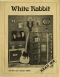 Music Memorabilia:Memorabilia, White Rabbit Magazine October 1976 Edition. A rare copy of the out-of-print Dallas-based monthly music periodical, featuring...