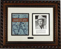 Music Memorabilia:Autographs and Signed Items, Hank Williams Signature Display. Williams' bio page from a GrandOle Opry souvenir program book, signed by him in blue i...