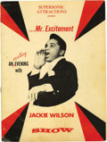 "Music Memorabilia:Autographs and Signed Items, Jackie Wilson Signed Program Book. This vintage program book,titled ""An Exciting Evening with the Jackie Wilson Show,"" is s..."