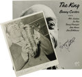 Music Memorabilia:Autographs and Signed Items, Benny Carter Signed Record and Photo Group. One of the greatfigures in jazz, composer, bandleader, and saxophonist, Benny C...
