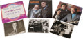 """Music Memorabilia:Autographs and Signed Items, Bucky Pizzarelli Signed Record and Photo Group. Guitar greats arethe hallmarks of this lot. The group includes: """"Bucky Pizz..."""