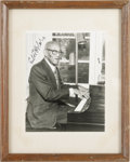 "Music Memorabilia:Autographs and Signed Items, Eubie Blake Signed Photo. A b&w 8"" x 10"" photo signed by thecompoer-pianist in black ink. In Excellent condition, matted an..."