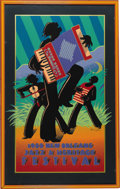 Music Memorabilia:Posters, 1988 New Orleans Jazz Festival Limited Edition Poster #5071 of12,500. Small poster, matted and framed to an overall size of...