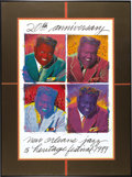 Music Memorabilia:Posters, 1989 New Orleans Jazz Festival 20th Anniversary Limited EditionPoster. Who else but Fats Domino as the star on a limited-ed...