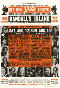 Music Memorabilia:Posters, New York Jazz Festival Handbill (T/P Productions, 1967). Randall'sIsland was the setting for this eclectic mix of Jazz, Sou...