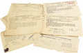 Music Memorabilia:Memorabilia, Eight John Lee Hooker Telegrams. Set of eight Western Union telegrams from John Lee Hooker to Vee Jay Records, most of them ...