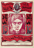 Music Memorabilia:Posters, Big Brother and the Holding Company Avalon Ballroom Concert PosterFD-30 (Family Dog Presents, 1966). A seldom seen first pr...