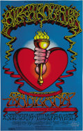 "Music Memorabilia:Posters, Big Brother and the Holding Company ""Heart and Torch"" Fillmore WestConcert Poster BG-136, Signed by Rick Griffin (Bill Graham..."
