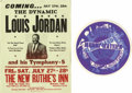 """Music Memorabilia:Posters, Blues and Jazz Concert Handbills Group of Two. Two unique handbillsmake up this group: The first is for the """"King of the Ju... (Total:2 )"""