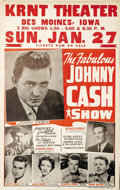 Music Memorabilia:Posters, Johnny Cash Roadshow Concert Poster (1963). The late Johnny Cash isshowcased in this terrific poster, featuring great early...